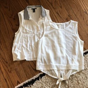 Lot 2 Forever 21 H&M Tank Top Blouses Sz S AM